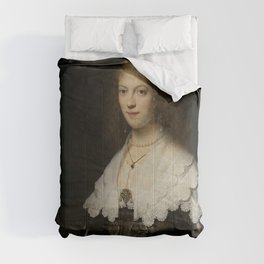 Rembrandt - Portrait of a Woman, Possibly Maria Trip Comforters