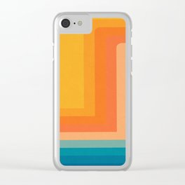 Retro 70s Color Lines Clear iPhone Case