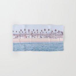 Vintage Newport Beach Print {3 of 4} | Photography Ocean Palm Trees Cool Blue Tropical Summer Sky Hand & Bath Towel