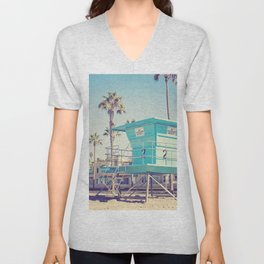 Retro Beach Unisex V-Neck