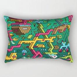 Blockhead Ensemble Rectangular Pillow