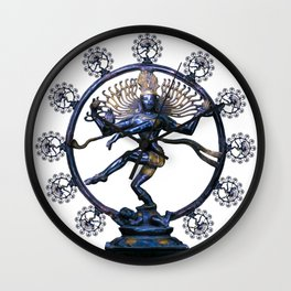 Shiva Nataraj, Lord of Dance (an actual factual fractal) Wall Clock