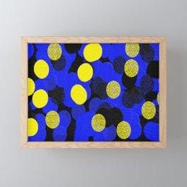 Yellow, Black, and Blue Framed Mini Art Print