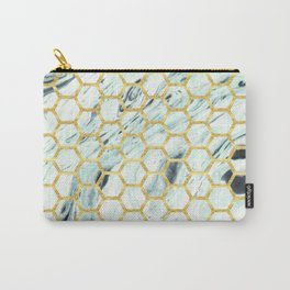 Teal + Gold #society6 #decor #buyart Carry-All Pouch