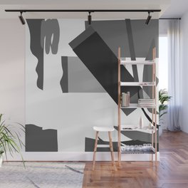 Matisse Inspired Black and White Collage Wall Mural