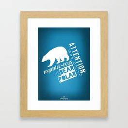 Le Bear Polar Framed Art Print