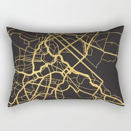 VIENNA AUSTRIA GOLD ON BLACK CITY MAP Rectangular Pillow