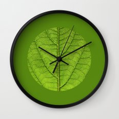 green leaf structure XII Wall Clock