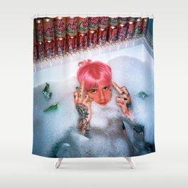 Lil Peep pink hair bath fuck Shower Curtain