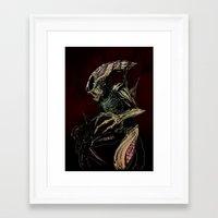 xenomorph Framed Art Prints featuring Alien (xenomorph) by Woorinara Kim