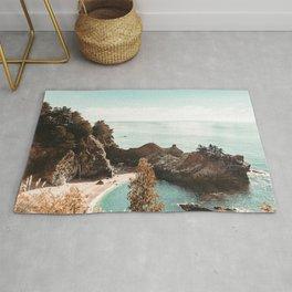 California Coast | Big Sur McWay Falls Coastal Camping Road Trip Tapestry Art Print Rug