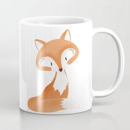 Cute fox kids illustration on white background Coffee Mug