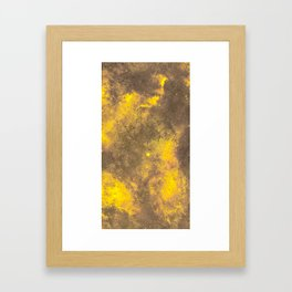 Yellow Painted on Concrete Framed Art Print