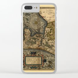 Map Of Holland 1570 Clear iPhone Case
