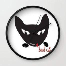 Bad Cat Bad Wall Clock