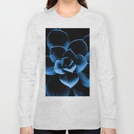 Dark Blue Succulent Plant #decor #society6 #homedecor Long Sleeve T-shirt