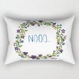 Nooo - floral wreath Rectangular Pillow