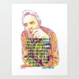 Portrait Series - Harry Partch Art Print