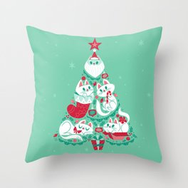 A Very Purry Christmas Throw Pillow