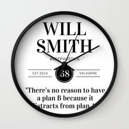 2  |  Will Smith Quotes | 190905 Wall Clock