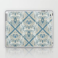 love bird lace blue Laptop & iPad Skin