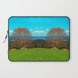 Lonely old tree in springtime scenery Laptop Sleeve