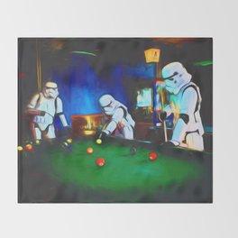 Stormtroopers On Break Throw Blanket