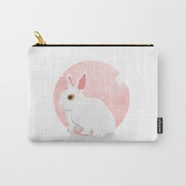 The White Bunny Carry-All Pouch