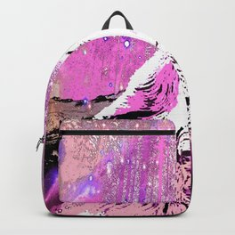 WOLF PINK MOON SHOOTING STARS Backpack