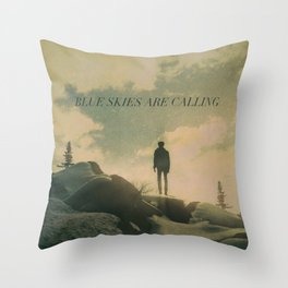 Blue Skies Are Calling Throw Pillow