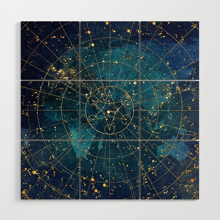 Star Map :: City Lights Wood Wall Art
