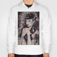 pinup Hoodies featuring pinup by Andreea Red