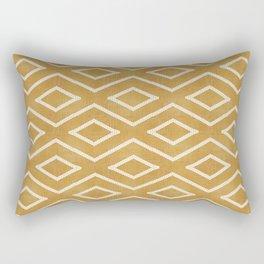Stitch Diamond Tribal in Gold Rectangular Pillow