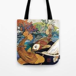Koi & Egret Tote Bag