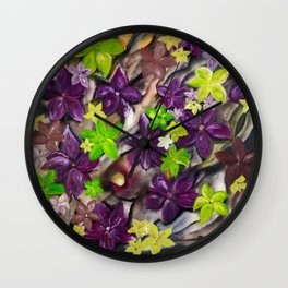 """""""Flowers of Autumn"""" by Pavel Pleskot Wall Clock"""
