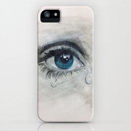 Crying eye iPhone Case