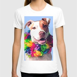 Dog in Flowers T-shirt