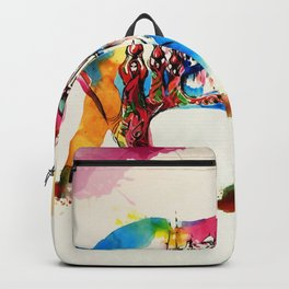 Colorful India Elephant Vintage Travel Love Watercolor Backpack