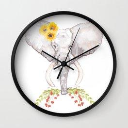 welcoming elephant Wall Clock