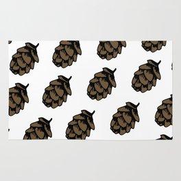 White Pinecone Pattern Rug