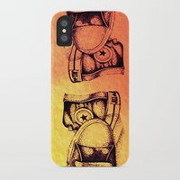 sneakers iPhone & iPod Cases featuring Sneakers by ladyberula