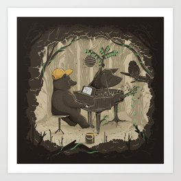 Forestal Sounds Art Print