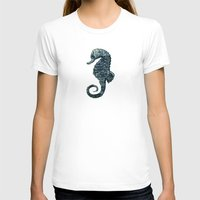sea horse T-shirts featuring sea & horse by Steffi Louis