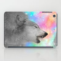 hobbes iPad Cases featuring Breathing Dreams Like Air (Wolf Howl Abstract II: Gray) by soaring anchor designs