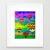 hot air balloons Framed Art Prints featuring Hot Air Balloons #6 by Music of the Heart