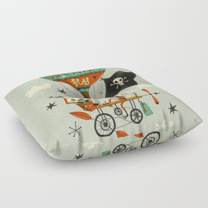 Make Your Dreams Fly Floor Pillow