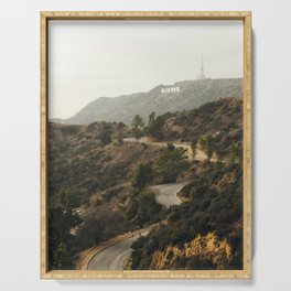 Hollywood Hills Los Angeles Serving Tray