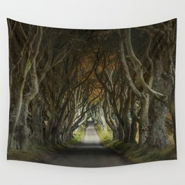 Dark Hedges alley in northern Ireland Wall Tapestry