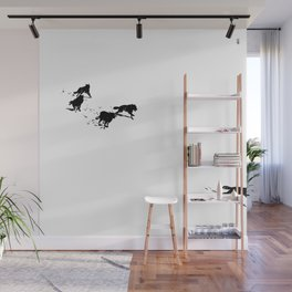 snowblinded // (wolf pack) Wall Mural