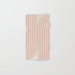 Minimal Line Curvature - Coral II Hand & Bath Towel